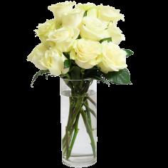 Bouquet of Long Stemmed Roses White